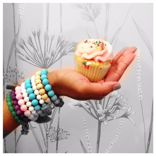 Bracelets and a Cupcake